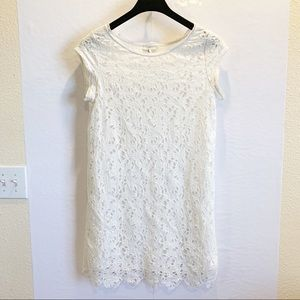 Joie Off White Eyelet Dress Size M